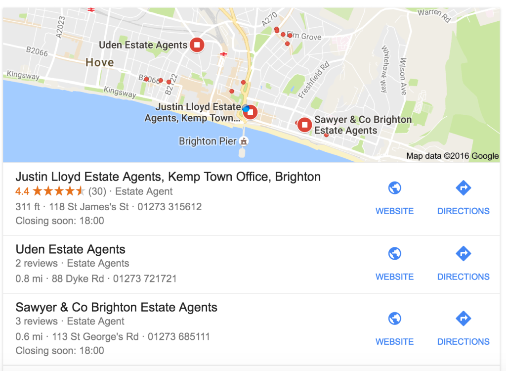Google My Business for Estate Agents