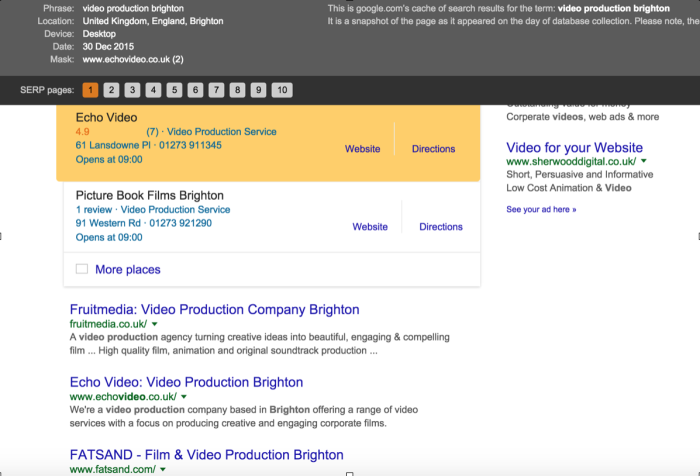 Video Production SEO Rankings