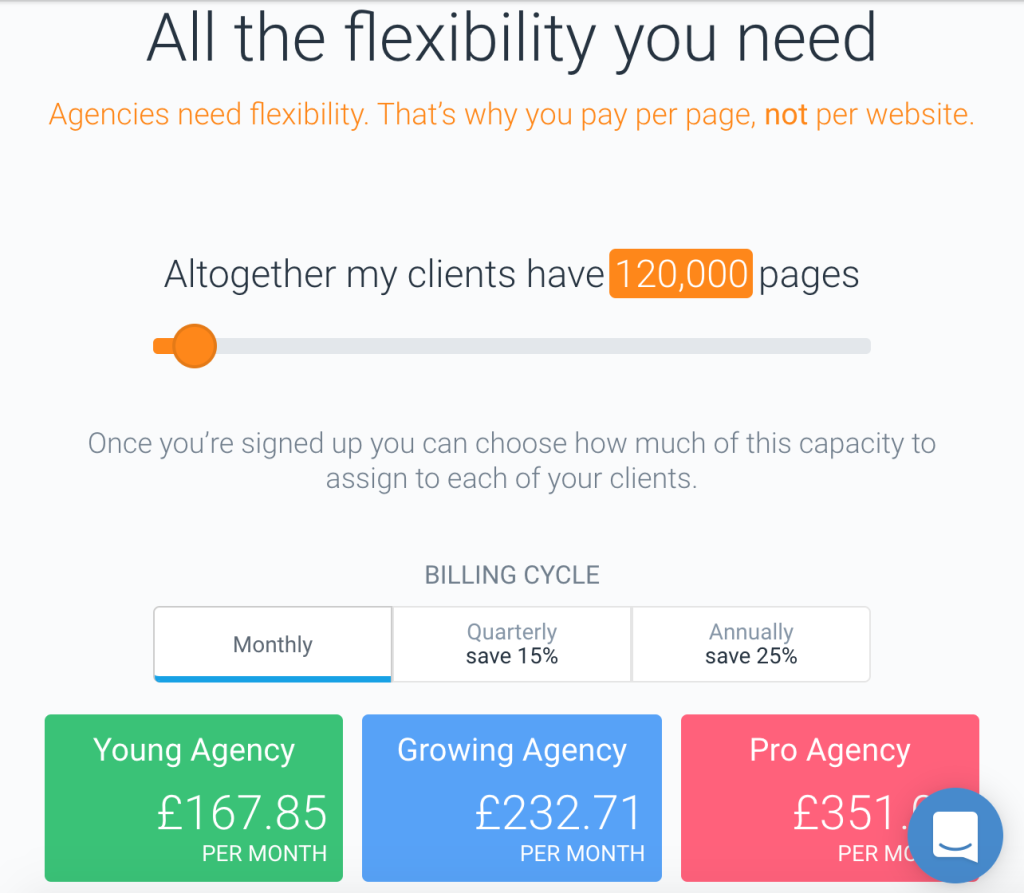 ContentKing Prices for Agencies