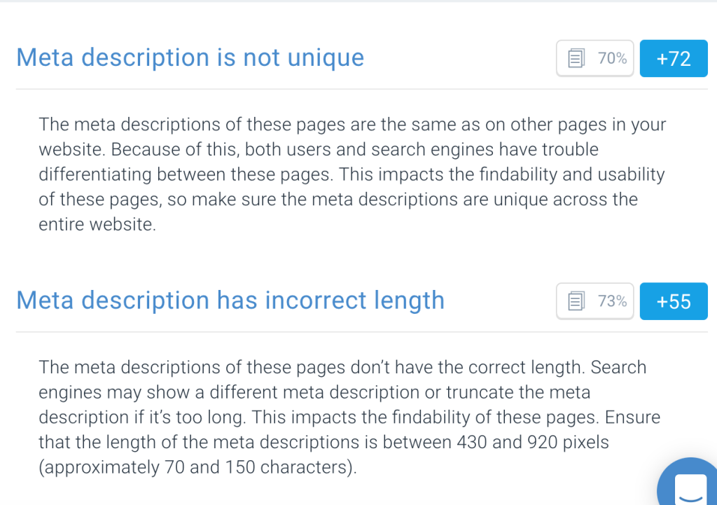 Finding bad meta descriptions