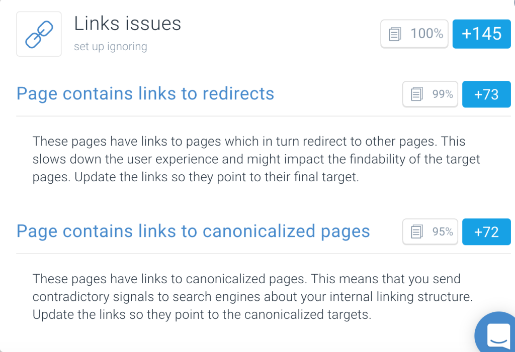 Fixing internal link structure for SEO